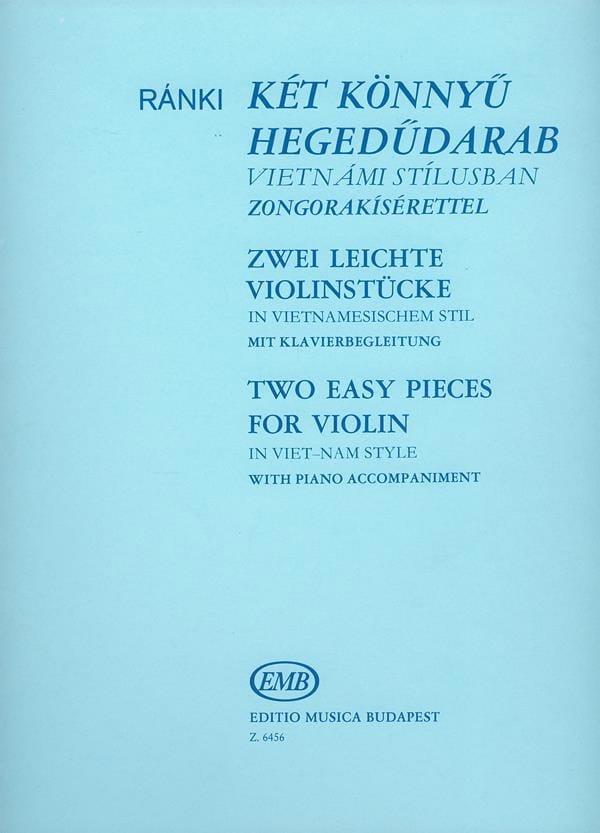 2 Easy pieces for violin in Viet-Nam style - laflutedepan.com