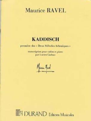 Maurice Ravel - Kaddisch - Violin - Partition - di-arezzo.co.uk