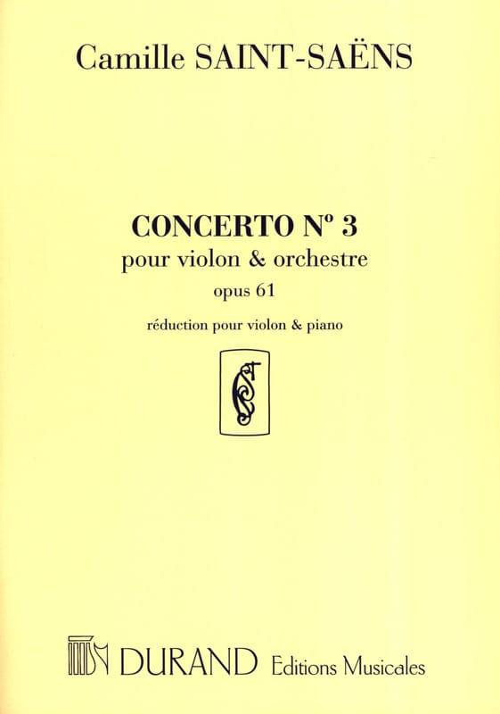 Camille Saint-Saëns - Violin Concerto No. 3 op. 61 - Partition - di-arezzo.com