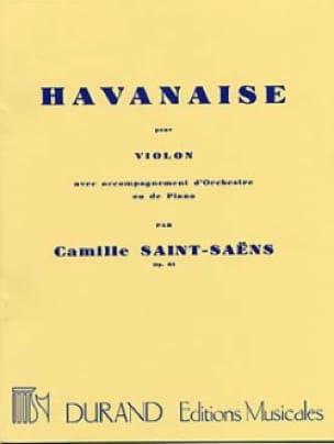 Camille Saint-Saëns - Havanese Op. 83 - Partition - di-arezzo.com