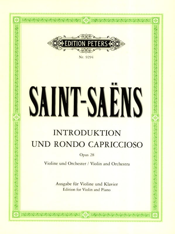 Camille Saint-Saëns - Introduction and Rondo Capriccioso op. 28 - Partition - di-arezzo.com