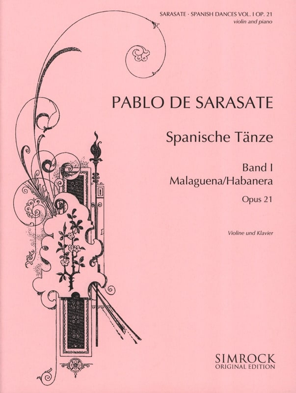 Pablo de Sarasate - Spanish Dances Opus 21 Volume 1 - Partition - di-arezzo.co.uk