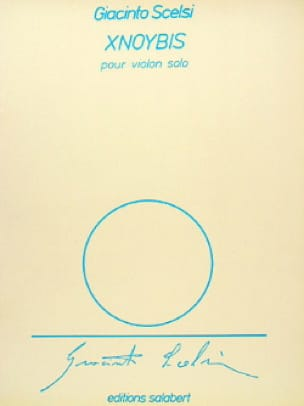 Xnoybis - Giacinto Scelsi - Partition - Violon - laflutedepan.com