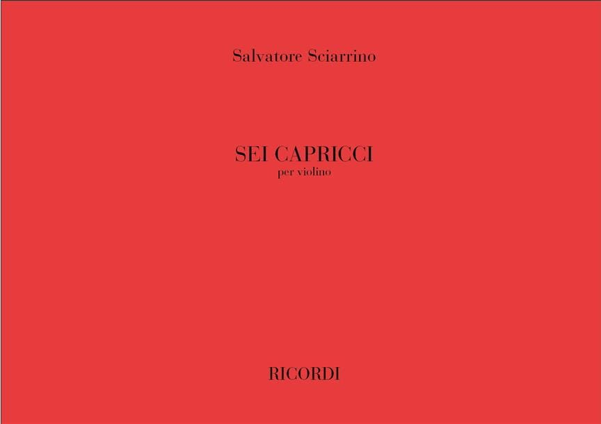 6 Capricci - Salvatore Sciarrino - Partition - laflutedepan.com
