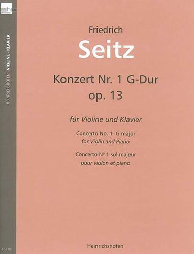 Friedrich Seitz - Concerto en sol majeur, op. 13 - Partition - di-arezzo.fr