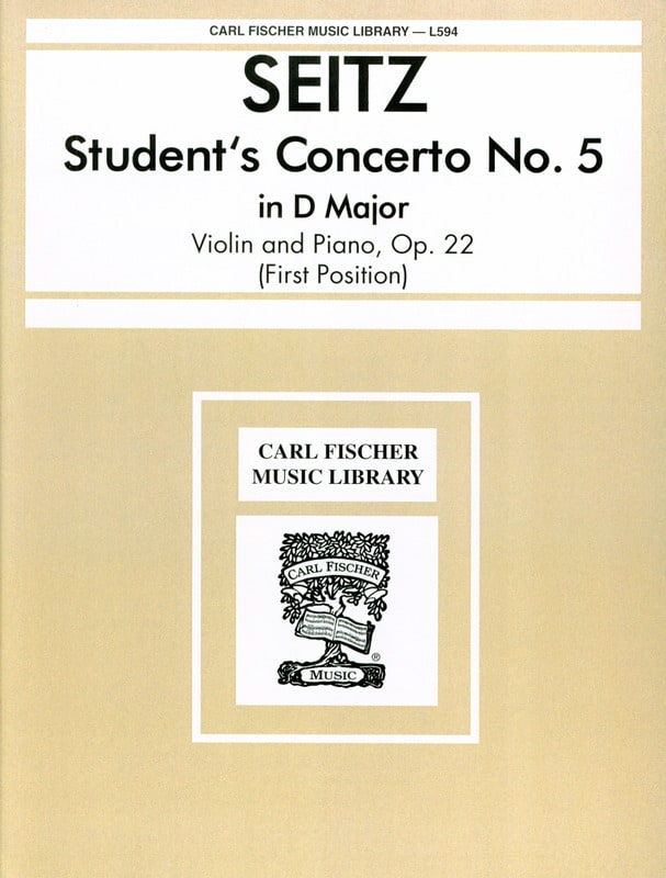 Friedrich Seitz - Student's Concerto n° 5 op. 22 in D major - Partition - di-arezzo.fr