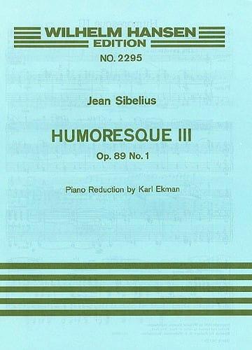 Jean Sibelius - Humoresque 3, op. 89 n ° 1 - Partition - di-arezzo.es