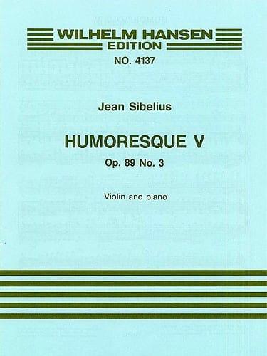 Jean Sibelius - Humoresque 5, op. 89 n ° 3 - Partition - di-arezzo.es
