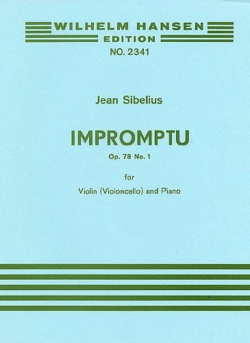 Jean Sibelius - Impromptu op. 78 n ° 1 - Partition - di-arezzo.co.uk