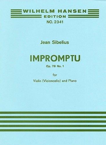 Jean Sibelius - Impromptu op. 78 n ° 1 - Partition - di-arezzo.es