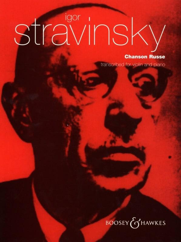 Chanson Russe - STRAVINSKY - Partition - Violon - laflutedepan.com