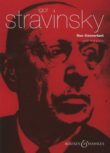 Igor Stravinsky - Concertant Duo - Partition - di-arezzo.com