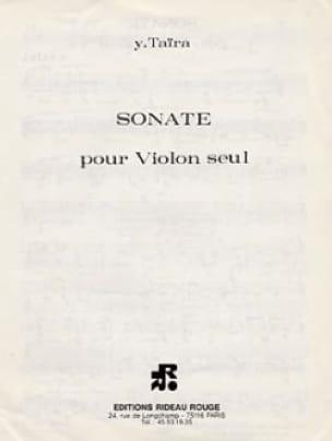 Yoshihisa Taira - Sonate - Solo violin - Partition - di-arezzo.co.uk