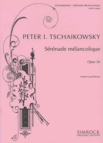 TCHAIKOVSKY - Serenade melancholy op. 26 - Partition - di-arezzo.com