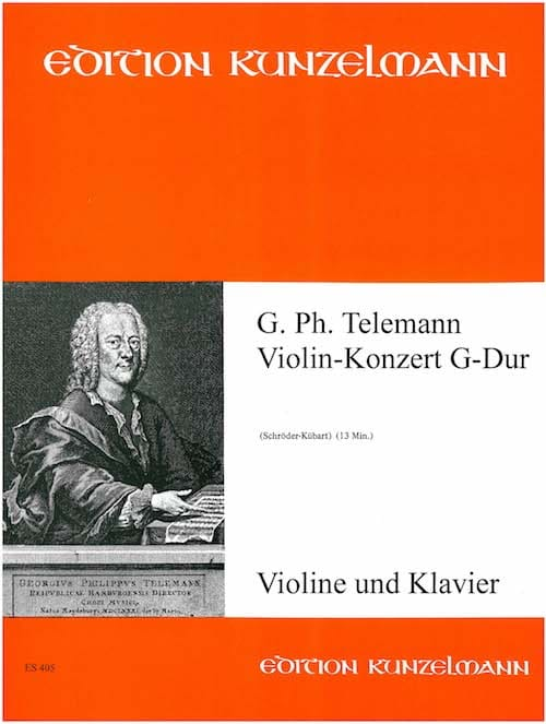 TELEMANN - Violin-Konzert G-Dur - Partition - di-arezzo.co.uk