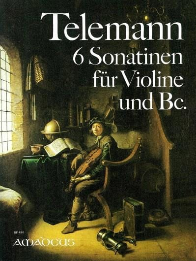 TELEMANN - 6 Sonatinen für Violine und Bc. - Partition - di-arezzo.fr