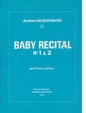 Baby Recital n° 1 & 2 - Jeanine Vaubourgoin - laflutedepan.com