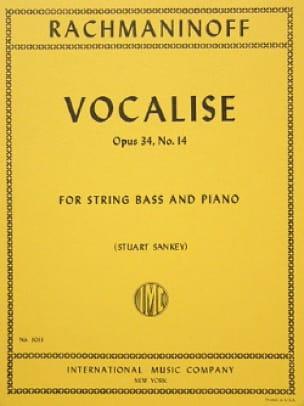 Vocalise op. 34 n° 14 - String bass - RACHMANINOV - laflutedepan.com