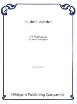 6 Morceaux - Pauline Viardot - Partition - Violon - laflutedepan.com