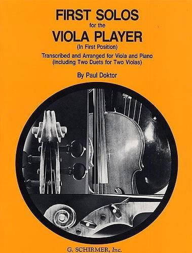 First Solos for the Viola player - Paul Doktor - laflutedepan.com