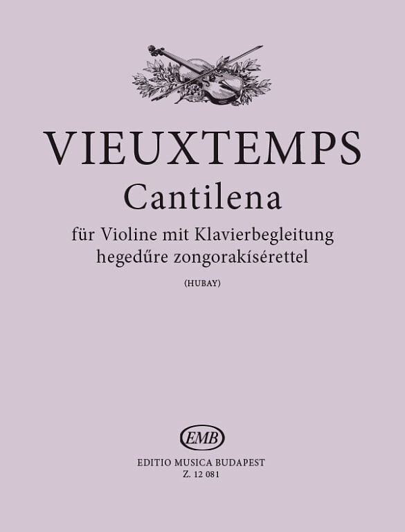 Henri Vieuxtemps - Cantilena op. 48 n ° 24 - Partition - di-arezzo.com