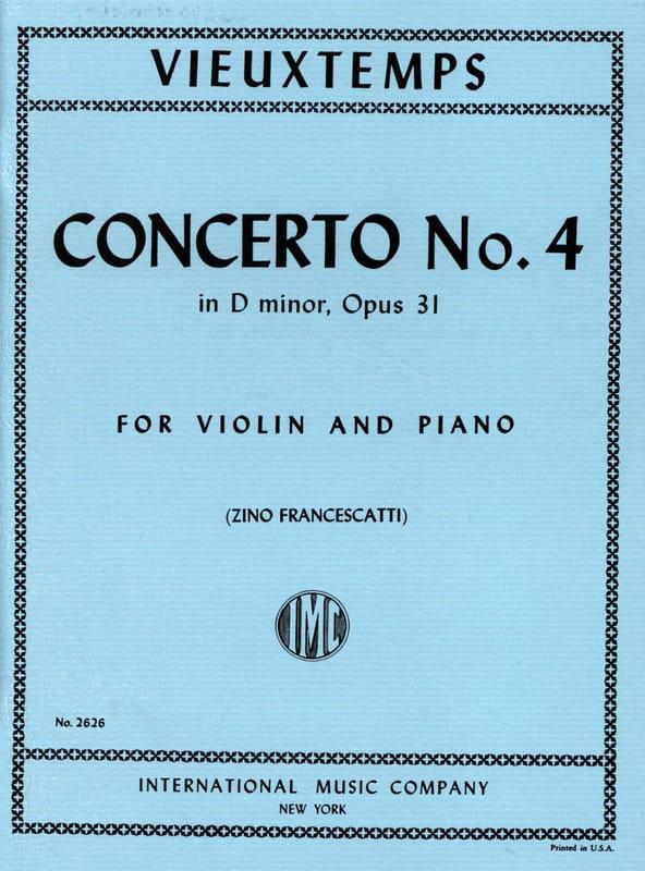 Henri Vieuxtemps - Violin Concerto No. 4 D minor op. 31 - Partition - di-arezzo.com
