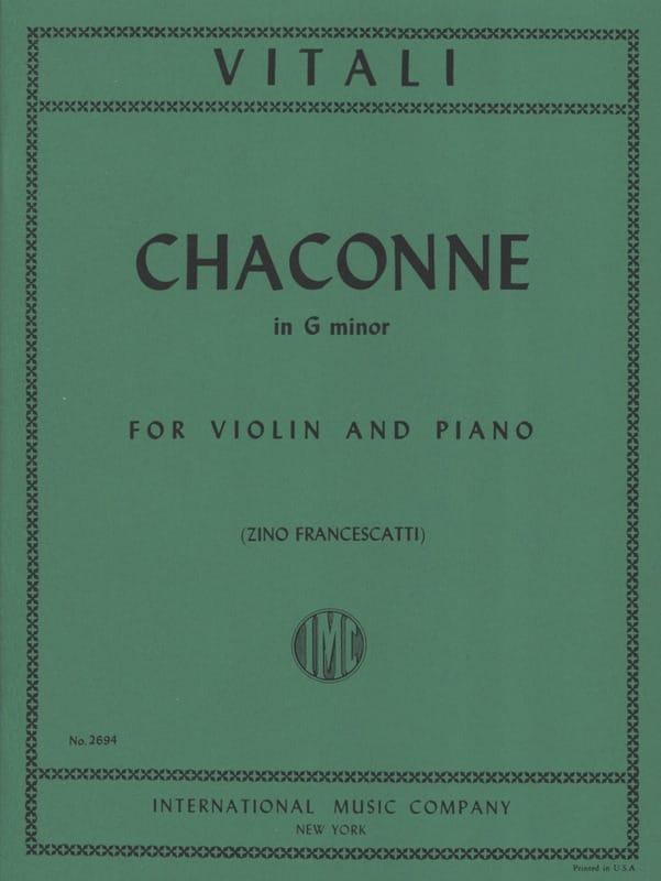 Tommaso Antonio Vitali - Chaconne in G minor - Partition - di-arezzo.co.uk