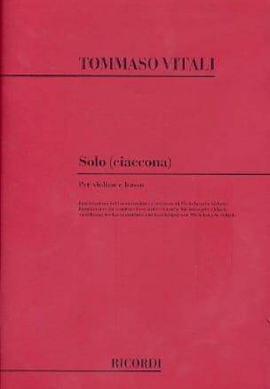 Tommaso Antonio Vitali - Solo Ciaccona - Partition - di-arezzo.co.uk