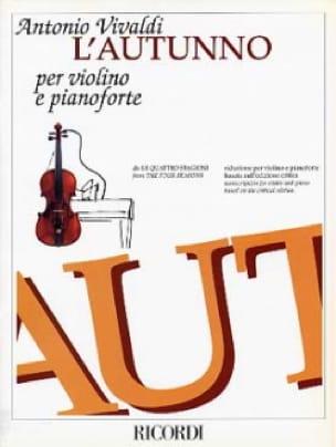 Concerto L'Autunno - VIVALDI - Partition - Violon - laflutedepan.com