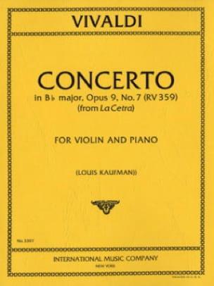 Concerto in B b major op. 9 n° 7 - RV 359 - VIVALDI - laflutedepan.com