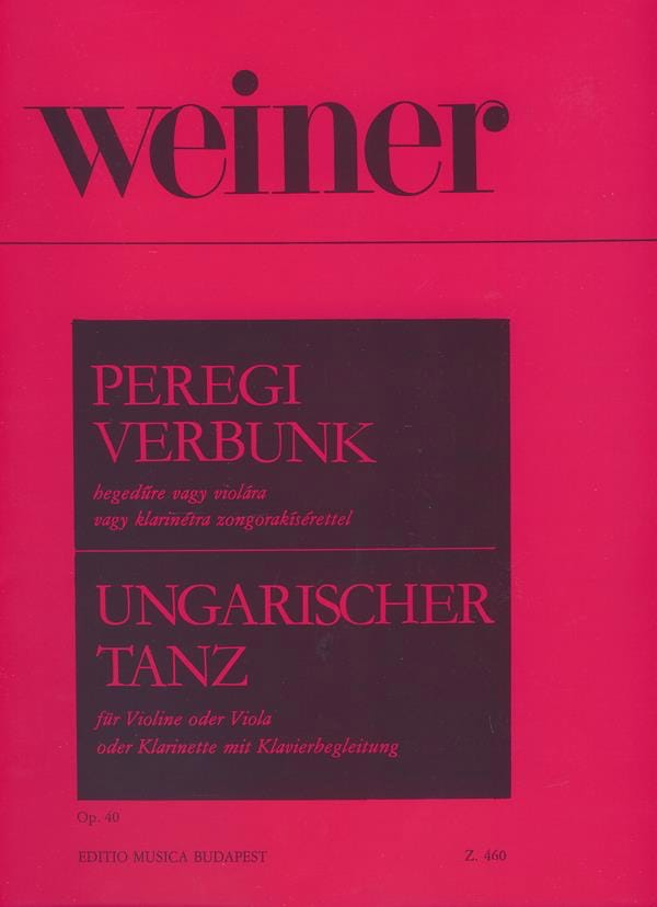 Leo Weiner - Hungarian Dance Op. 40 - Partition - di-arezzo.fr