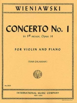 WIENIAWSKI - Concerto No. 1 in F sharp minor op. 14 - Violin - Partition - di-arezzo.co.uk