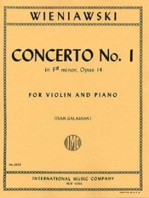 WIENIAWSKI - Concierto No. 1 en fa sostenido menor op. 14 - violín - Partition - di-arezzo.es
