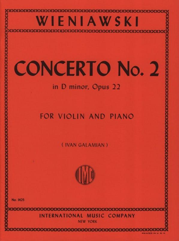 WIENIAWSKI - Concierto No. 2 D menor op. 22 - violín - Partition - di-arezzo.es