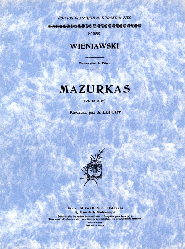 WIENIAWSKI - Mazurkas op. 12 and op. 19 - Partition - di-arezzo.com