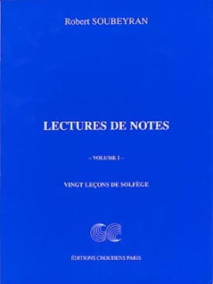 Robert Soubeyran - Reading Notes Volume 1 - Partition - di-arezzo.co.uk