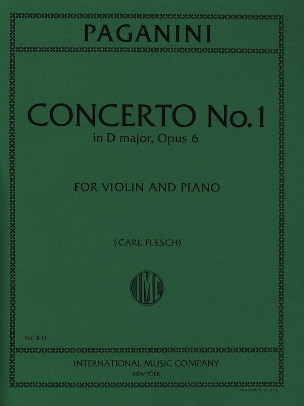 Niccolò Paganini - Concerto n° 1 in D major, op. 6 Flesch - Partition - di-arezzo.fr