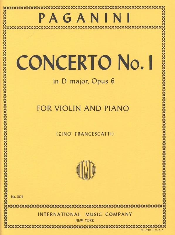 Niccolò Paganini - Concerto No. 1 in D major, op. 6 Francescatti - Partition - di-arezzo.co.uk