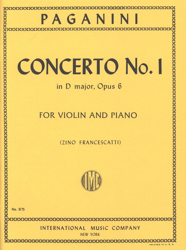 Concerto n° 1 in D major, op. 6 Francescatti - laflutedepan.com