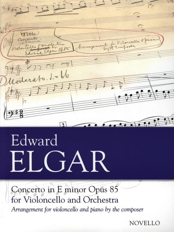 ELGAR - Cello Concerto Op. 85 - Partition - di-arezzo.co.uk