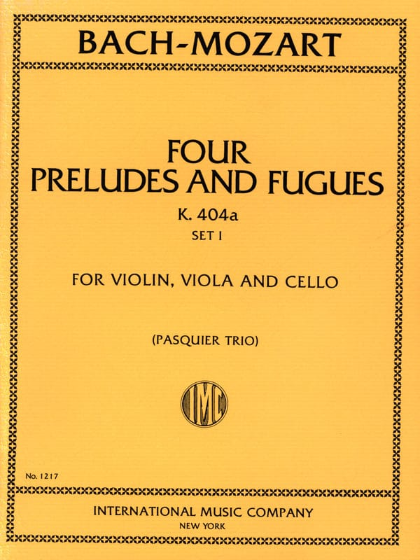 4 Préludes et Fugues KV 404 a, Set 1 -Trio - Parts - laflutedepan.com