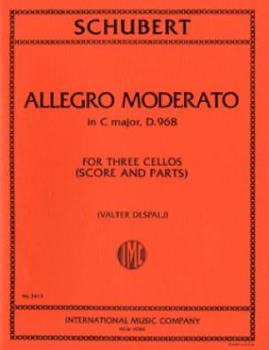 SCHUBERT - Allegro Moderato in C major D.968 - 3 Cellos - Partition - di-arezzo.co.uk
