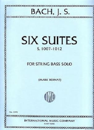 BACH - 6 Suites BWV 1007-1012 - String bass - Partition - di-arezzo.co.uk