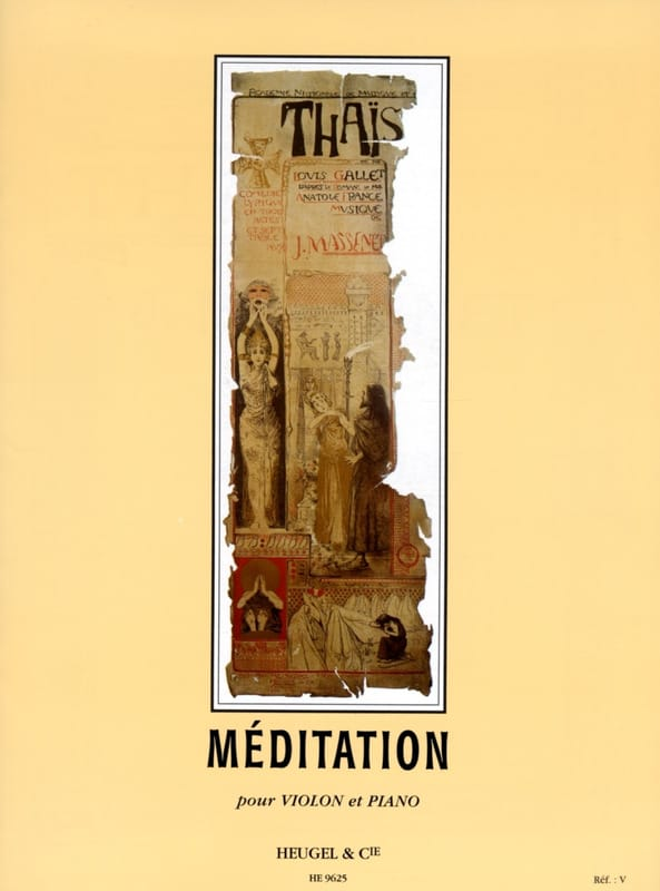 Jules Massenet - Meditation of Thaïs - Partition - di-arezzo.co.uk