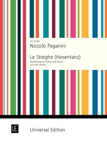 Le Streghe op. 8 - PAGANINI - Partition - Violon - laflutedepan.com