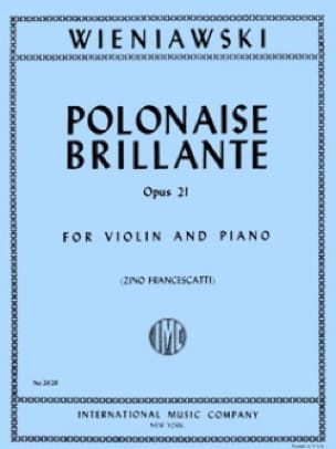 WIENIAWSKI - Polish Brillante Op. 21 In the Major - Partition - di-arezzo.co.uk