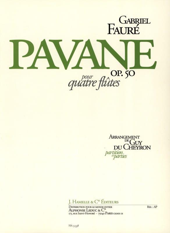 Pavane op. 50 - 4 Flûtes - Gabriel Fauré - laflutedepan.com