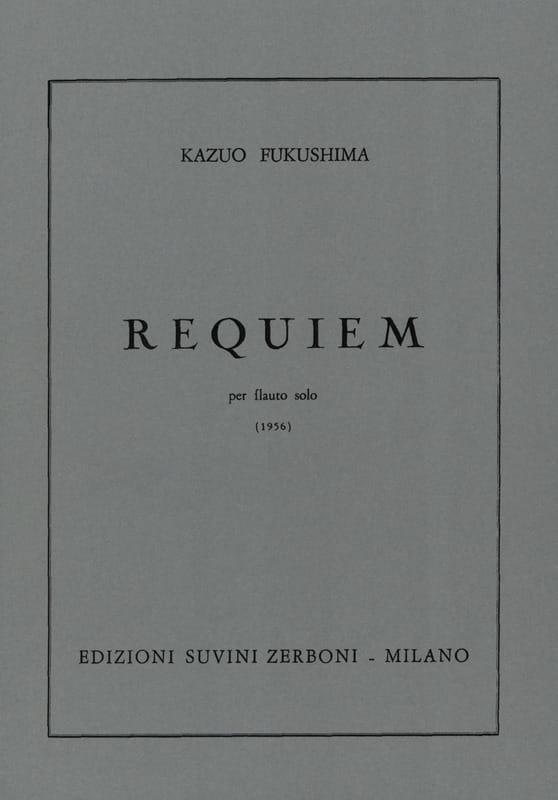 Kazuo Fukushima - Requiem - Solo Flauto - Partition - di-arezzo.com