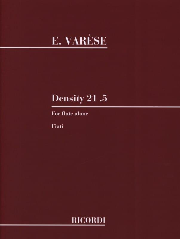 Density 21.5 - Edgard Varèse - Partition - laflutedepan.be