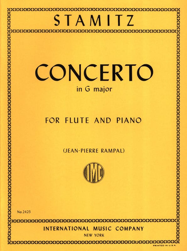 Carl Stamitz - Concerto in G major op. 29 - Flute piano - Partition - di-arezzo.com